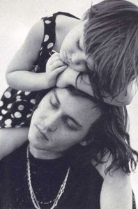 Johnny Depp and his daughter
